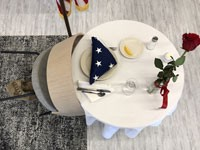 Fallen soldier table honoring those that have died defending our country