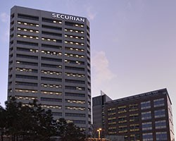Securian Financial at sunset