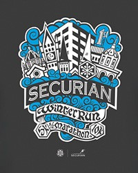 2017 Securian Winter Run t-shirt and run participation gifts