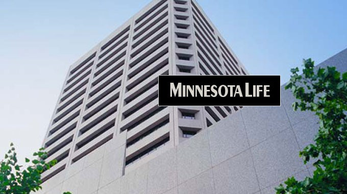 Minnesota Life logo on building background
